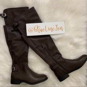 Wild Diva Brown Over the Knee Boots